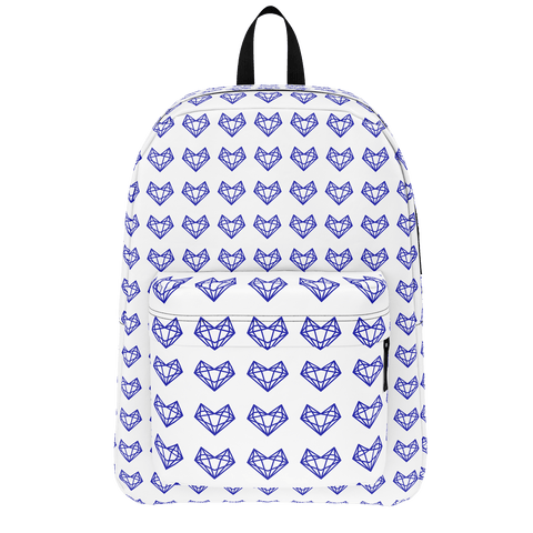 Sistersquad Family Blue Heart Classic BackPack (White)