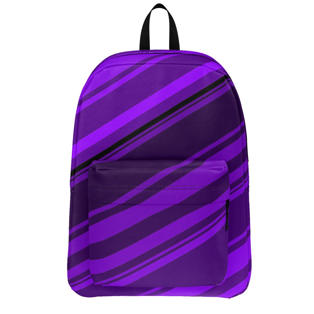 Black/Purple Diagonal Striped Classic Backpack