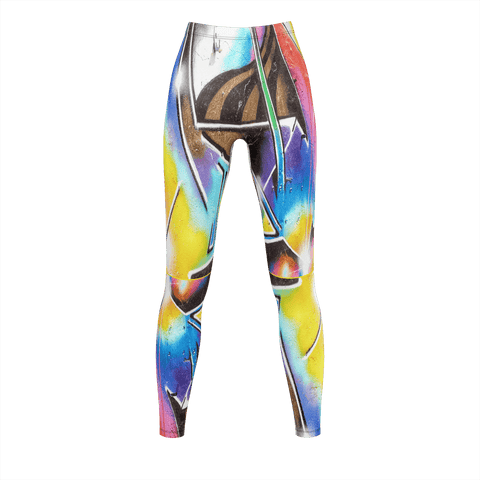 WLDR Ladies GRAFFITI Gym Tights