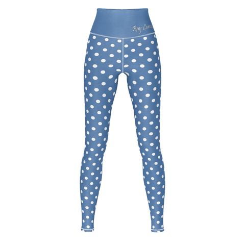 Polka Dot Yoga - Sky Blue