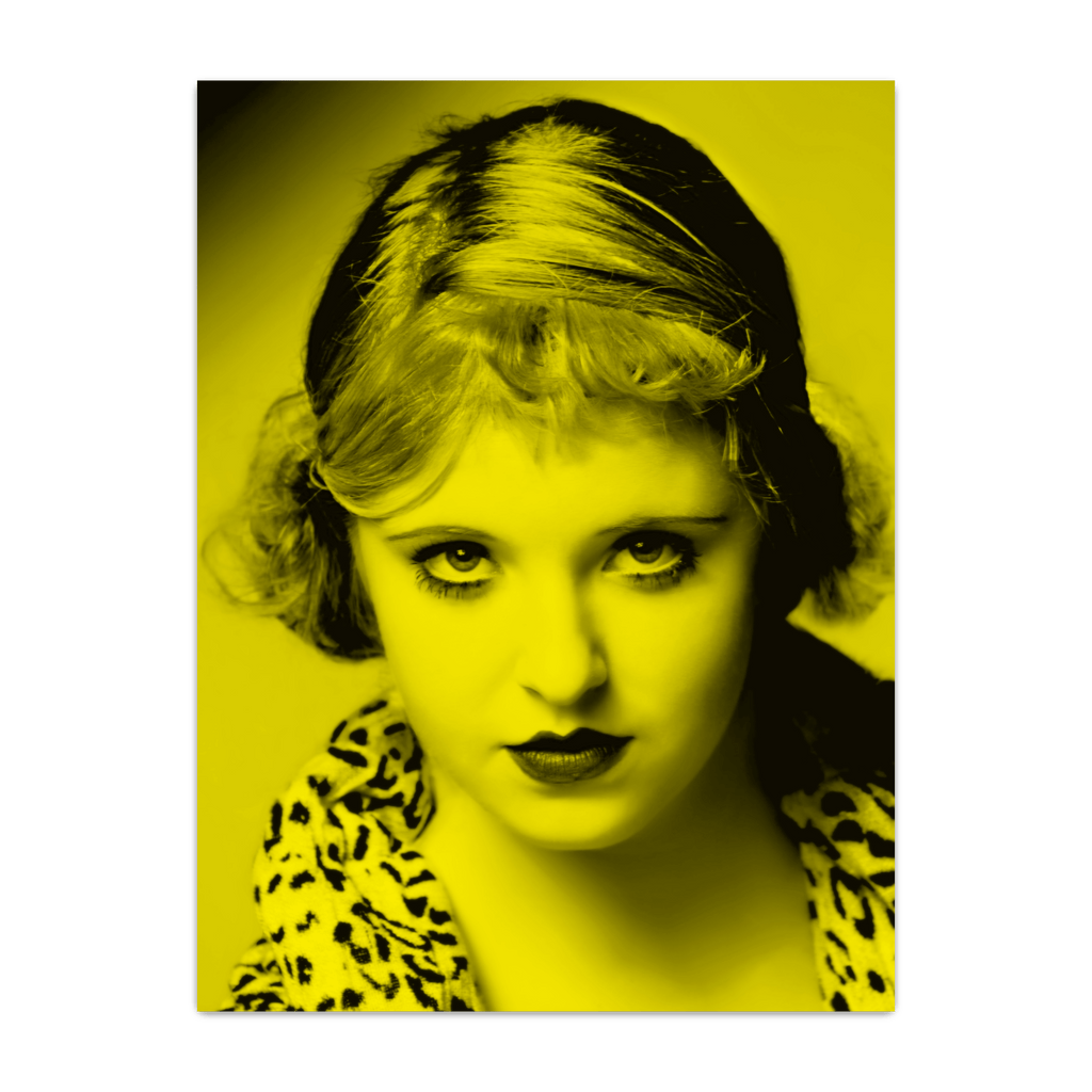 Bette Davis - Celebrity (Florescent Color Technique)