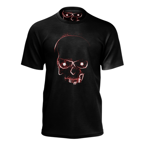 Red Light Skull Mens T-shirt