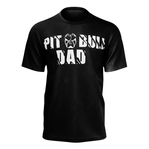 Pitbull Dad T-shirt Black