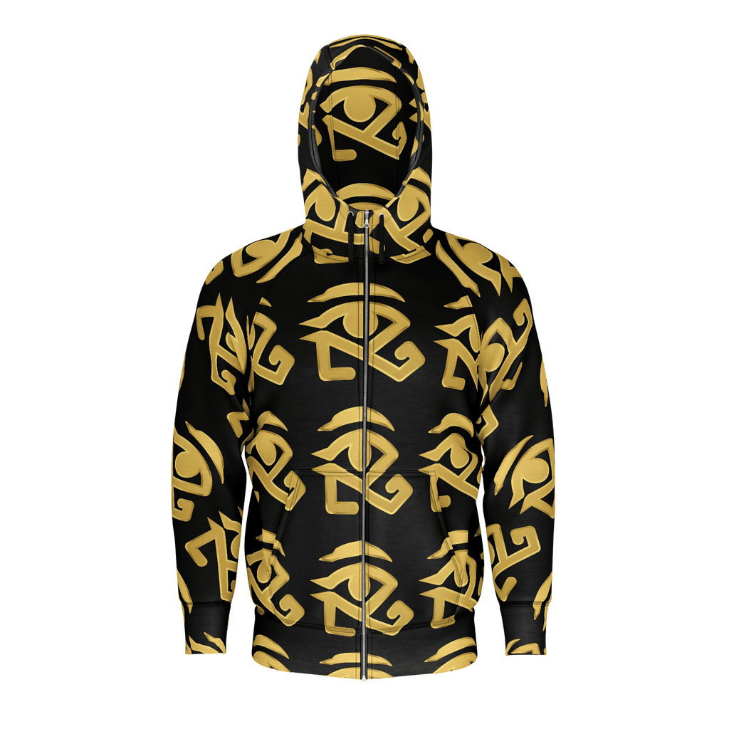 black hoodie with 360 Gold logo