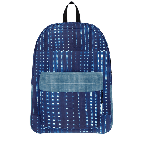 Indigo Mudcloth Backpack