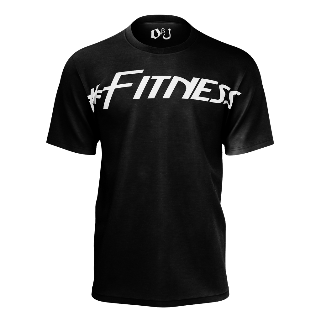 #Fitness Men's T-Shirt (Black)