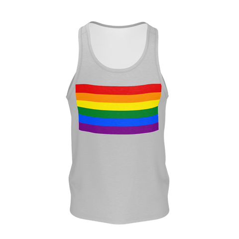 LGBT Color Meanings, Men's Sleeveless Grey Tank-Top