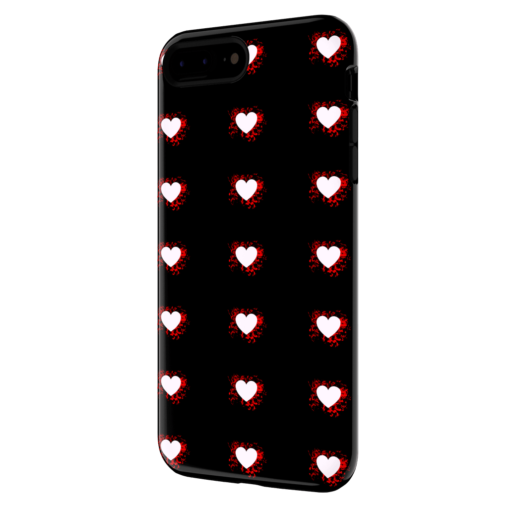 splattered heart iphone 7 plus case