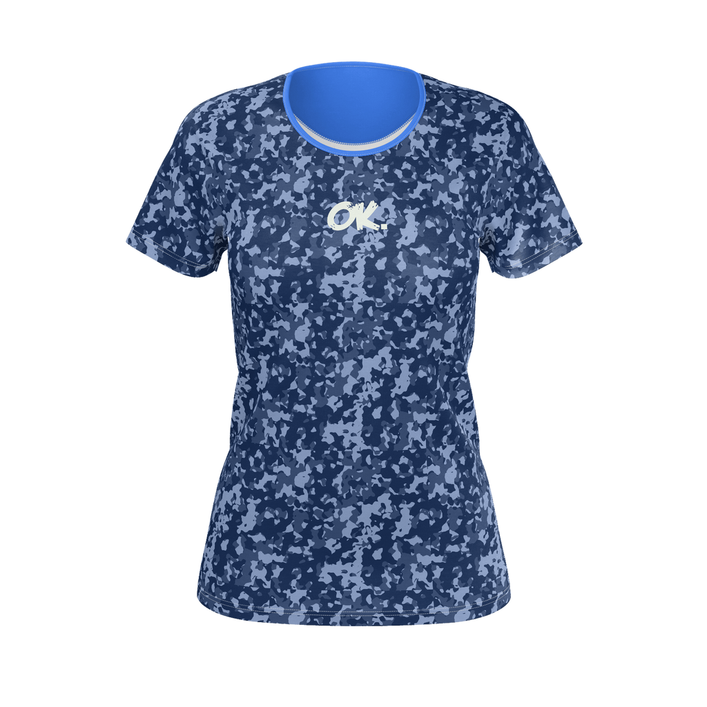 Ok. Blue Camo Women Tee