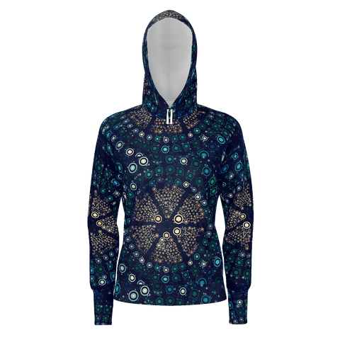 Abstract Circle Pattern Hoodie