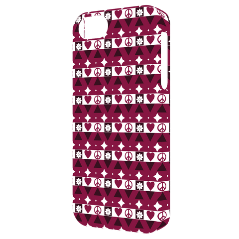 Peace and Love pattern Iphone case