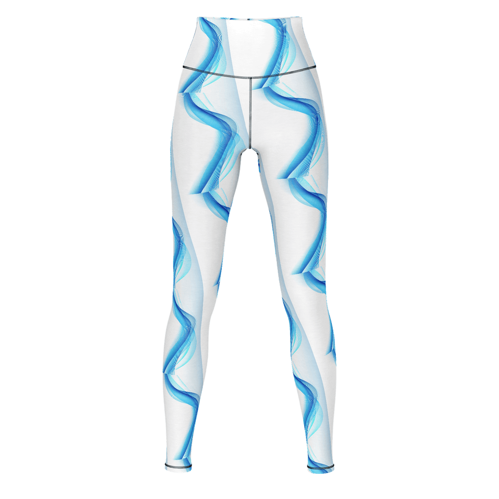 Blue Abstract Yoga Pants