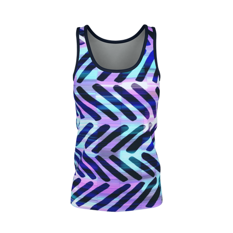 BLUE HIPPY CHEVRON PATTERN Tank Top
