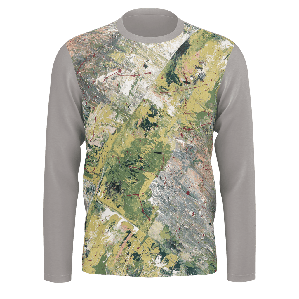 WAR - Men Long Sleeve Pima T-Shirt (Grey)