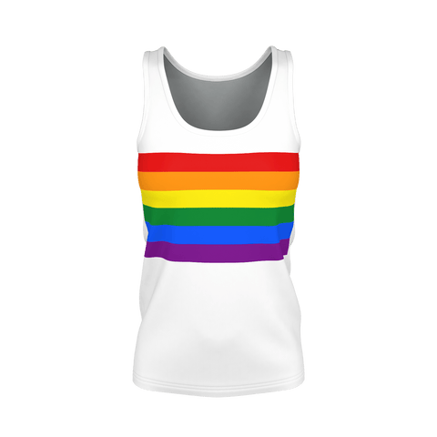 LGBT Color Meanings, Woman's White Tank-Top