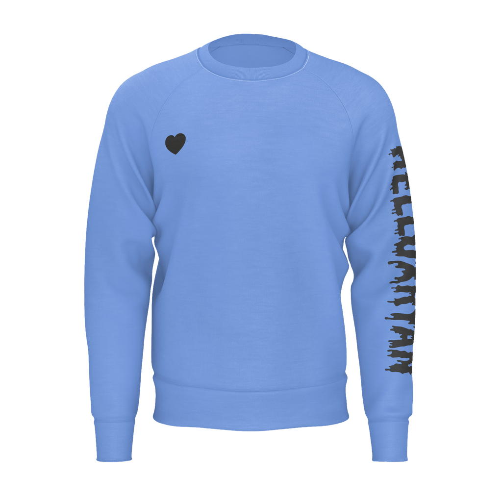 "SWEATSHIRT - ""HEART"" [BLUE]"