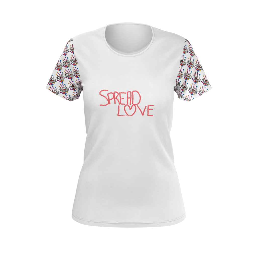 SPREAD LOVE SLEEVED T WOMENS