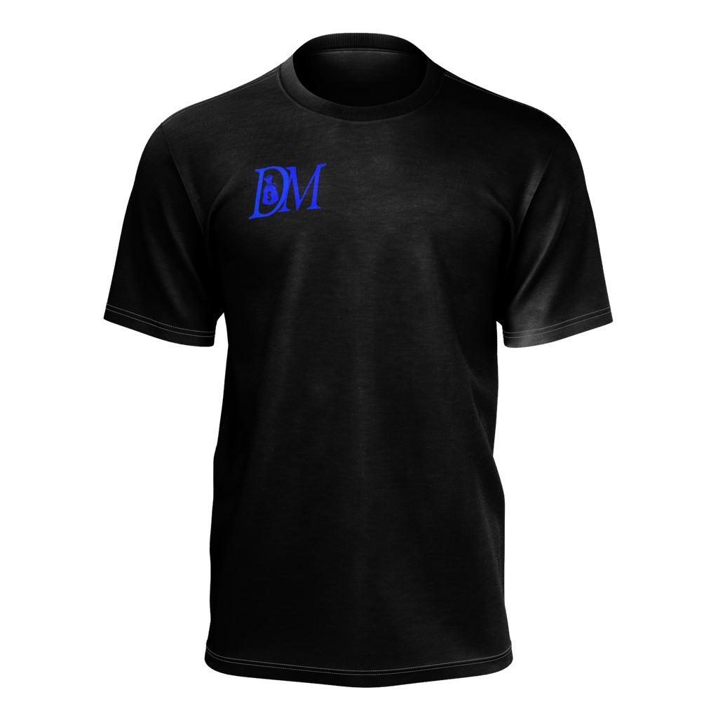 DIRTYMONEY LOGO TEE BLACK/BLUE