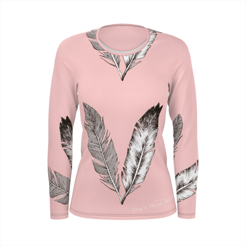 Feathers Sleeve For Woman (Pink)