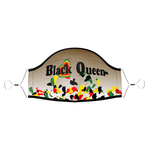 Black Queen - Hearts Brown Blend : PPE Mask