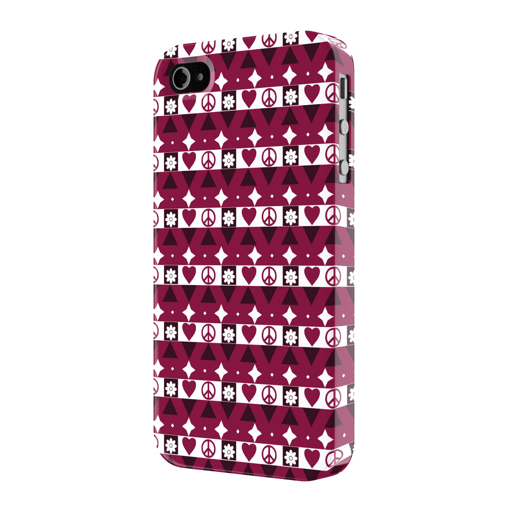 Peace and Love pattern case