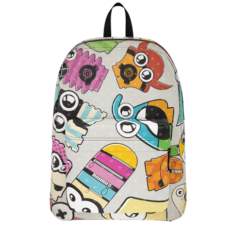 School Bus Aliens Backpack 8