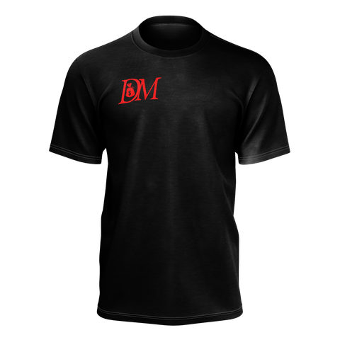 DIRTYMONEY LOGO TEE BLACK / RED