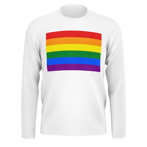 LGBT Color Meanings, Men's Long Sleeve White Shirt