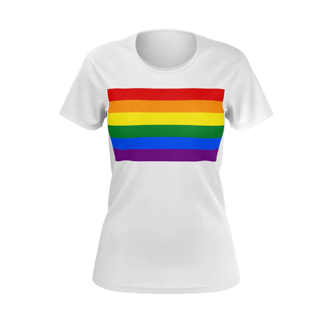 LGBT Color Meanings, Woman's Short Sleeve White Shirt