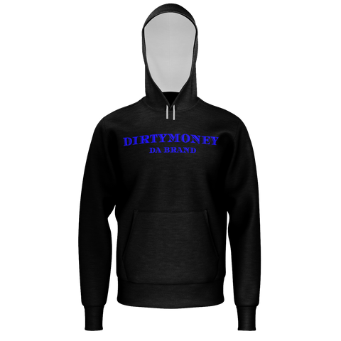 DIRTYMONEY PLAIN HOODIE BLACK/ BLUE