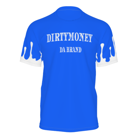 DIRTYMONEY DRIP TEE BLUE/WHITE