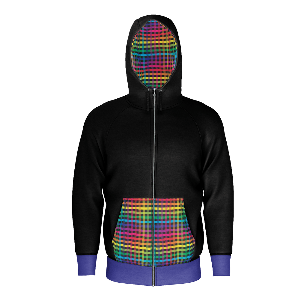 Rainbow Plaid: Black & Blue
