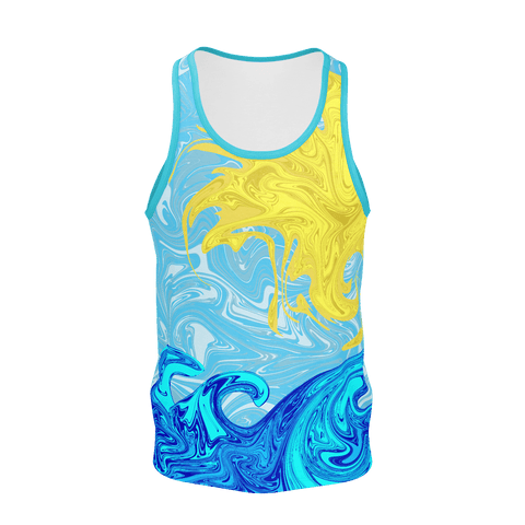SUNSHINING ON BLUE MEN'S TANK TOP