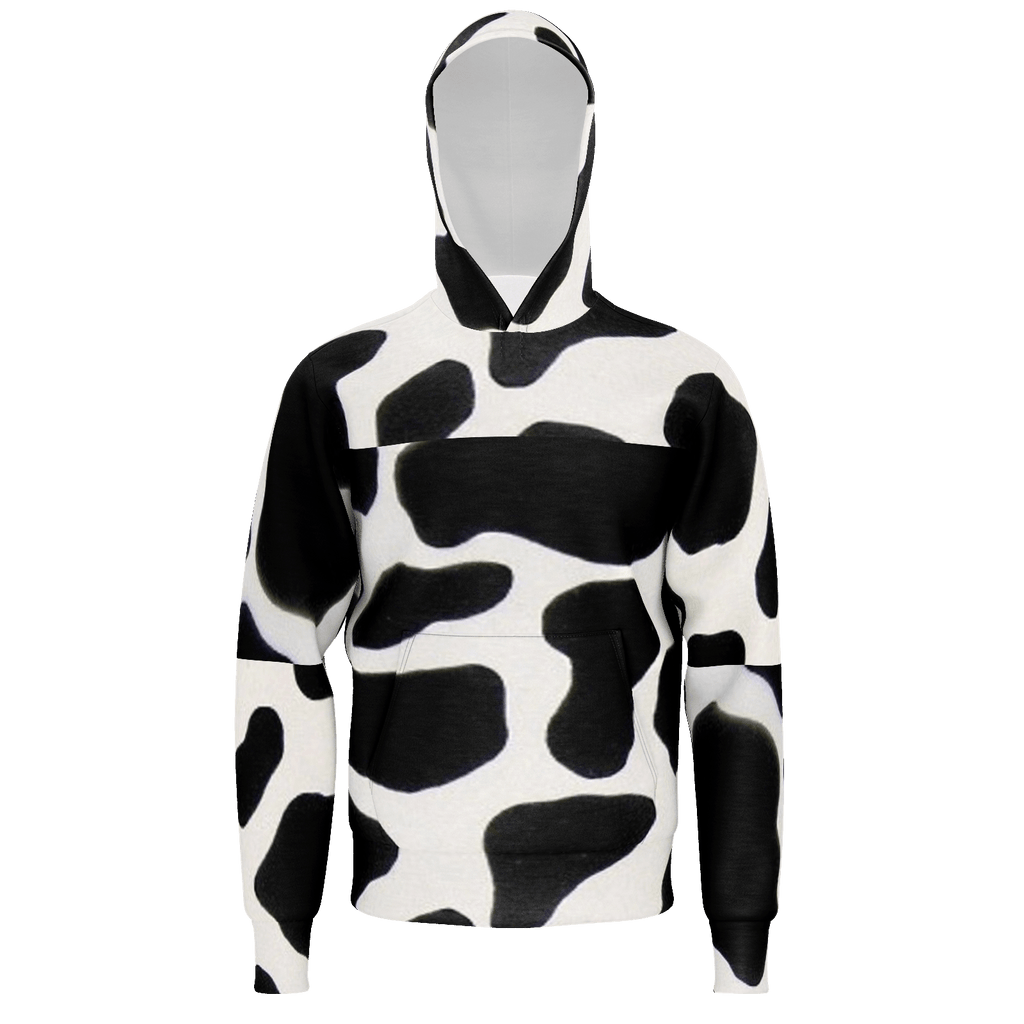 pullover cow print hoodie