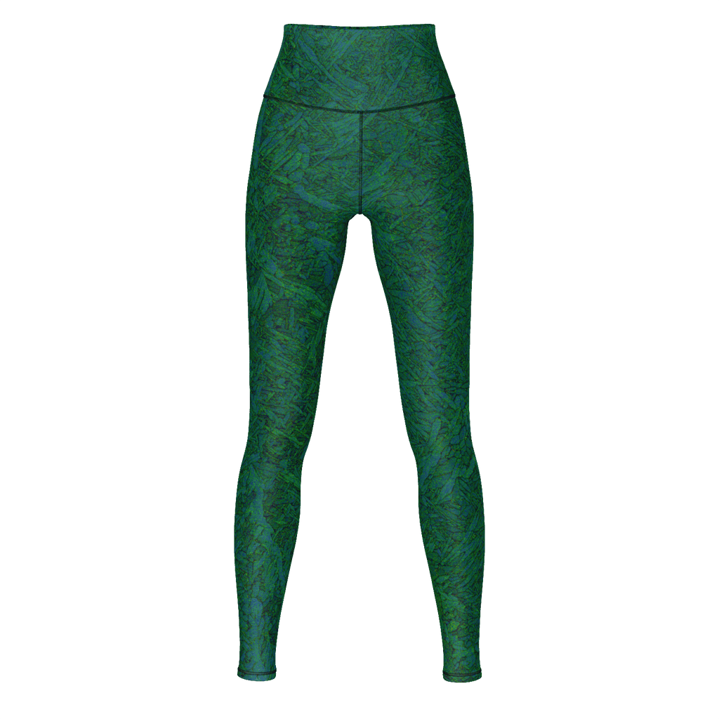 Green Print Yoga Pants