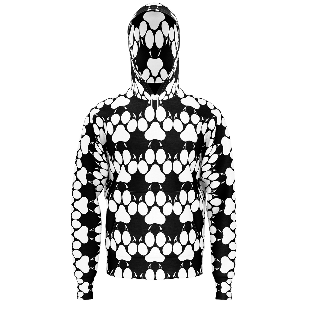 Loyalty Boards Paw Pattern Fill On Black Hoodie