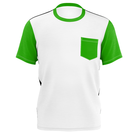 green, black,white Tshirt