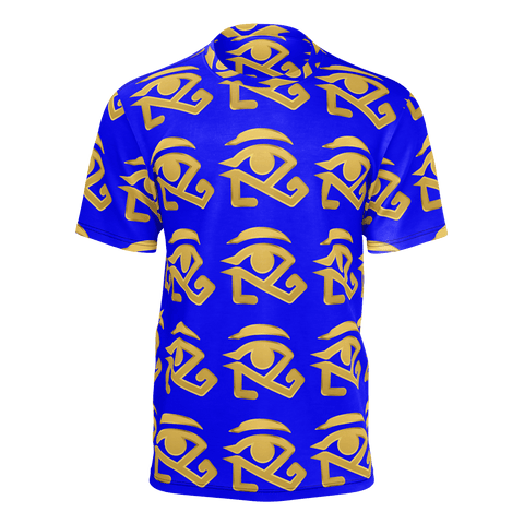 Blue shirt with Gold Logo