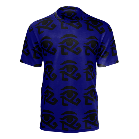 Blue shirt with black 360 logo