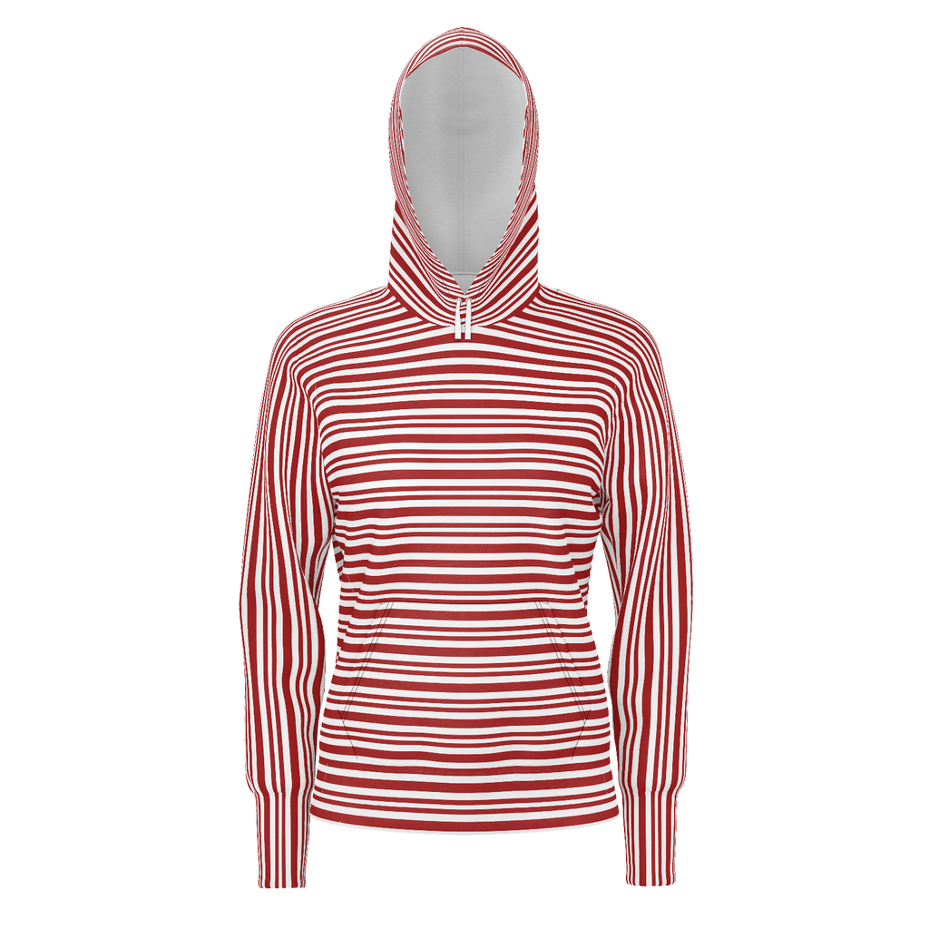 Red & White Striped Patterns Hoodie