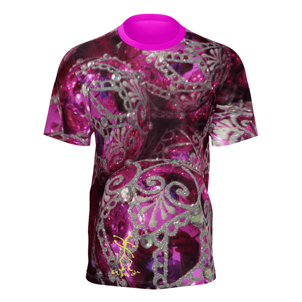 Metallic pink baubles t-shirt design