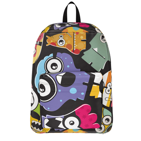 School Bus Aliens Backpack 6