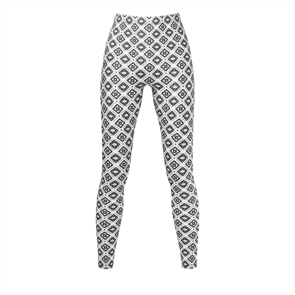 Black And White Pixeled Thai Pattern