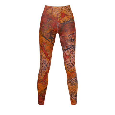 Aflame with Flowers HotWaxed for Texture Leggings