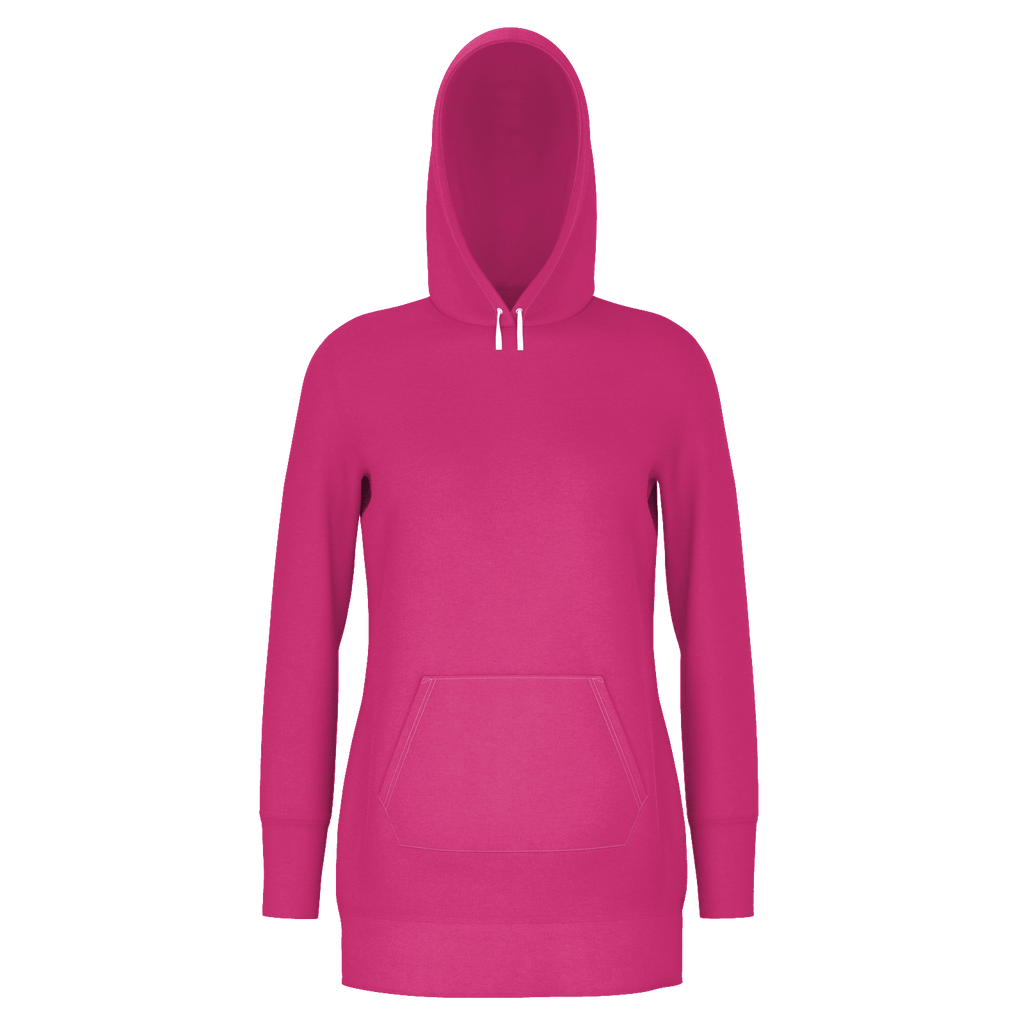 Beetroot Purple Women's X-Long Set Pullover Hoodie DR Hood W/O Lining (PC)