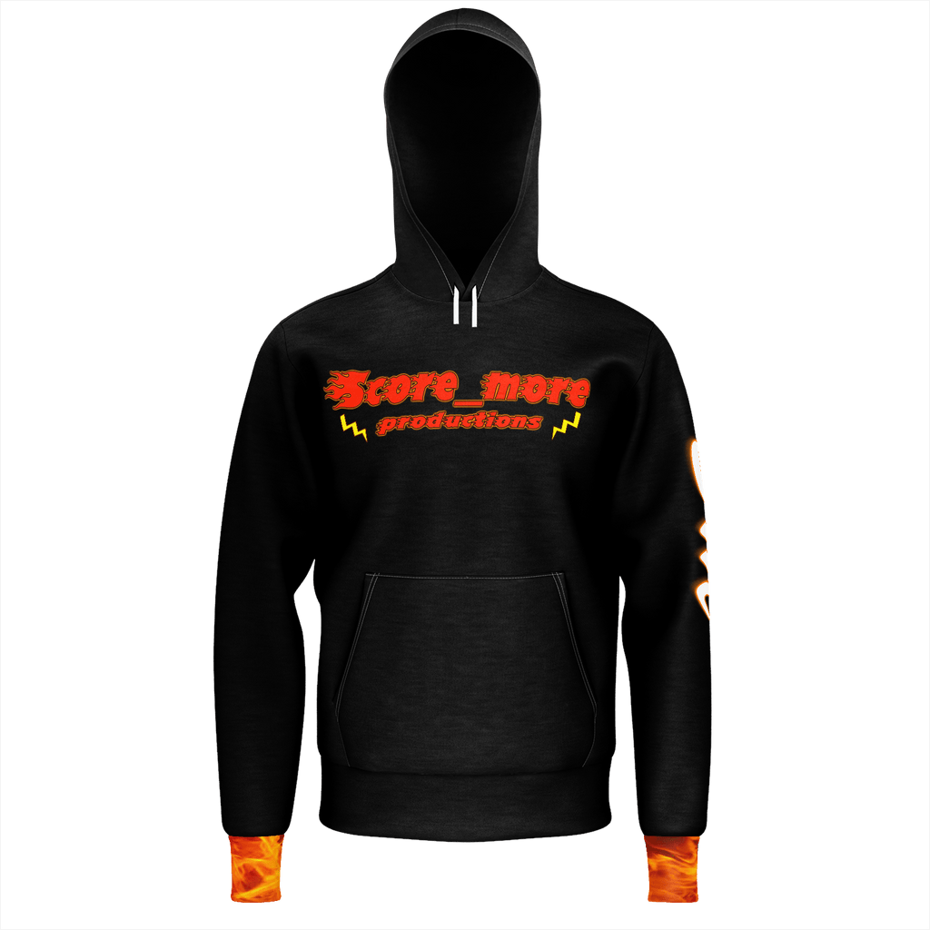 Mens Hoodie - Score_more Productions // Fire part 2