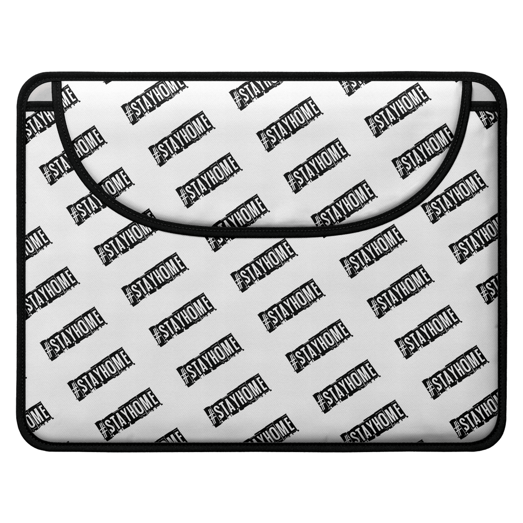 #StayHome Envelope Laptop Sleeve(White)