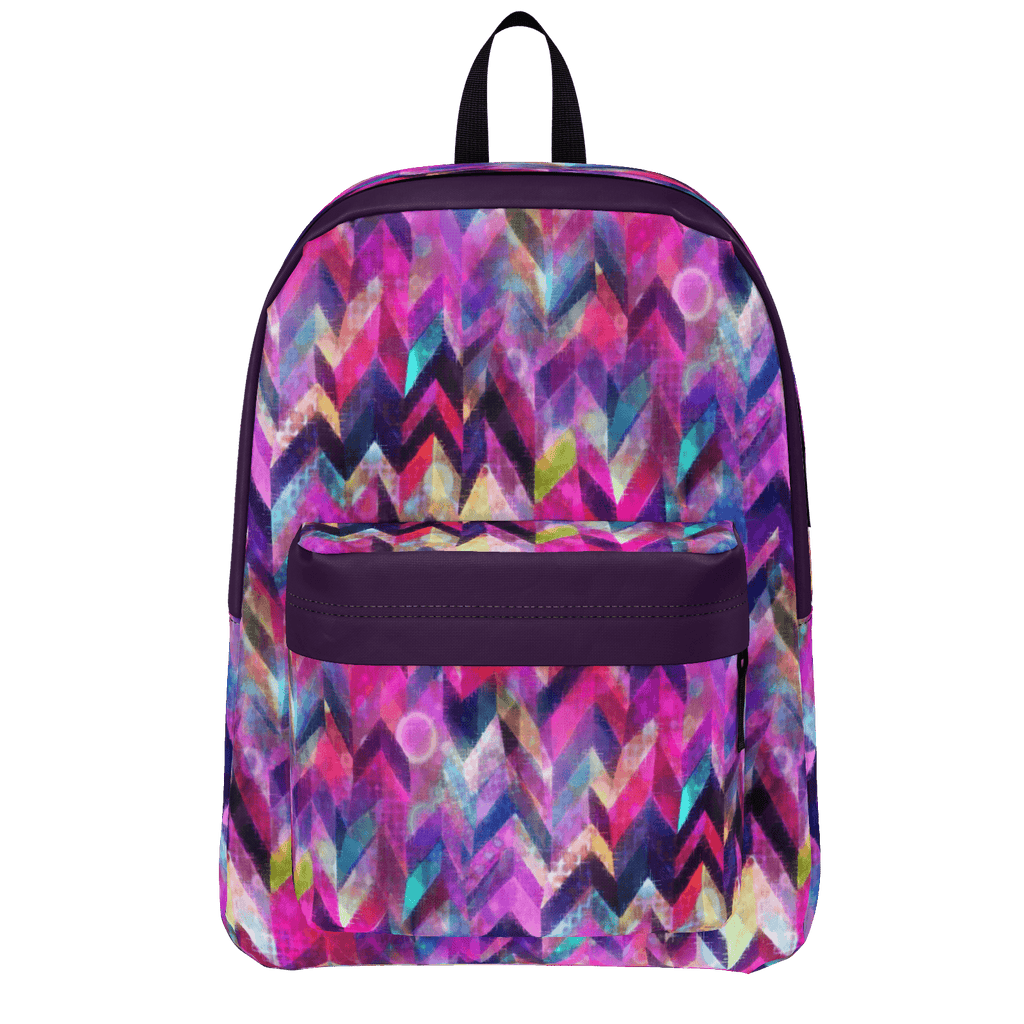 Colorful Chevron Chaos Pattern Backpack