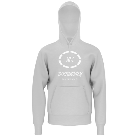 DM CIRCLE HOODIE GREY/WHITE