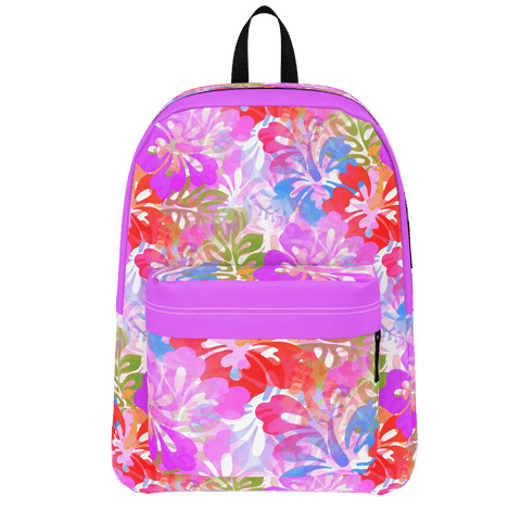 Hawaiian Hibiscius Tropical Pattern Backpack